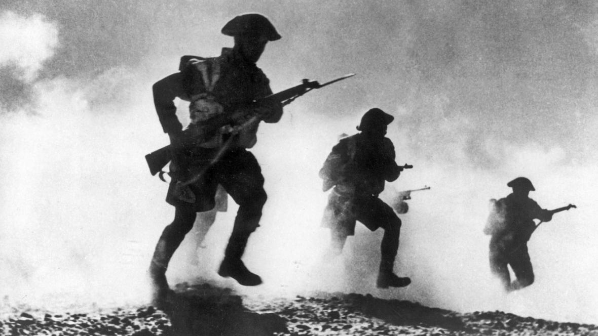 Britští vojáci za války v Severní Africe