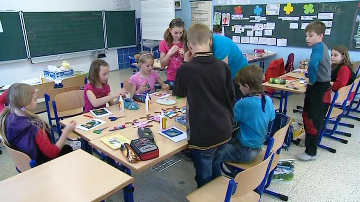 Žáci ve třídě