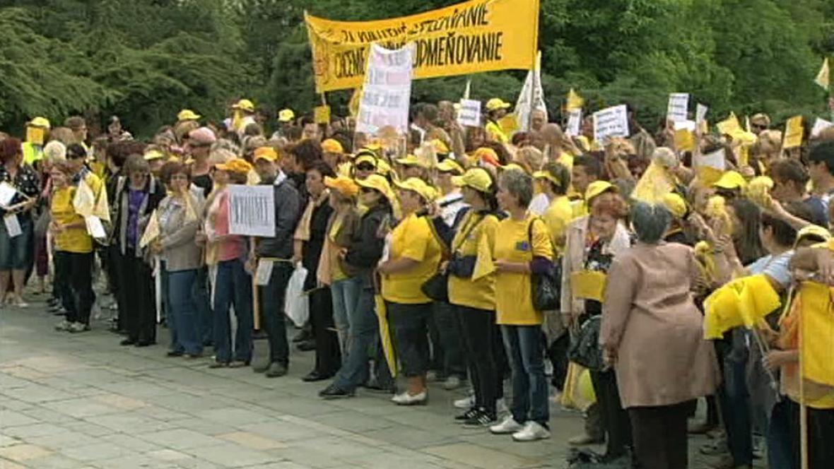 Protest slovenských učitelů