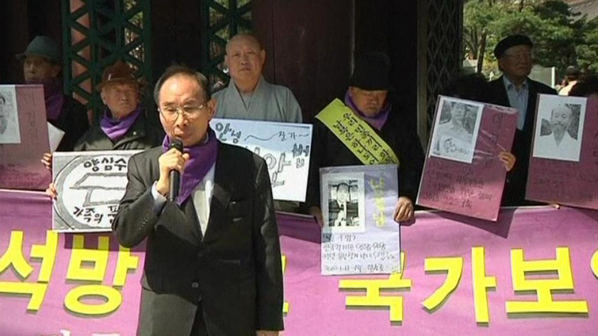 Demonstrace v Soulu - na podporu KLDR