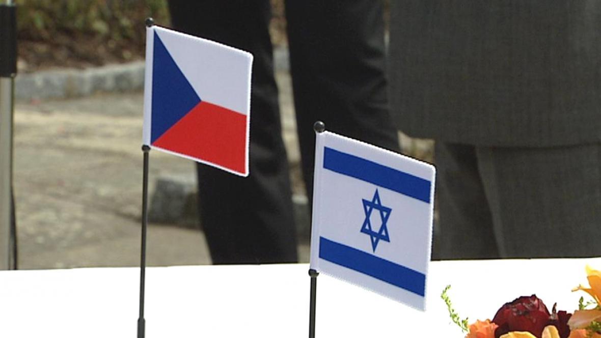 Česká a izraelská vlajka