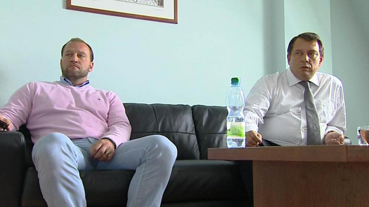 Jiří Šlégr a Jiří Paroubek