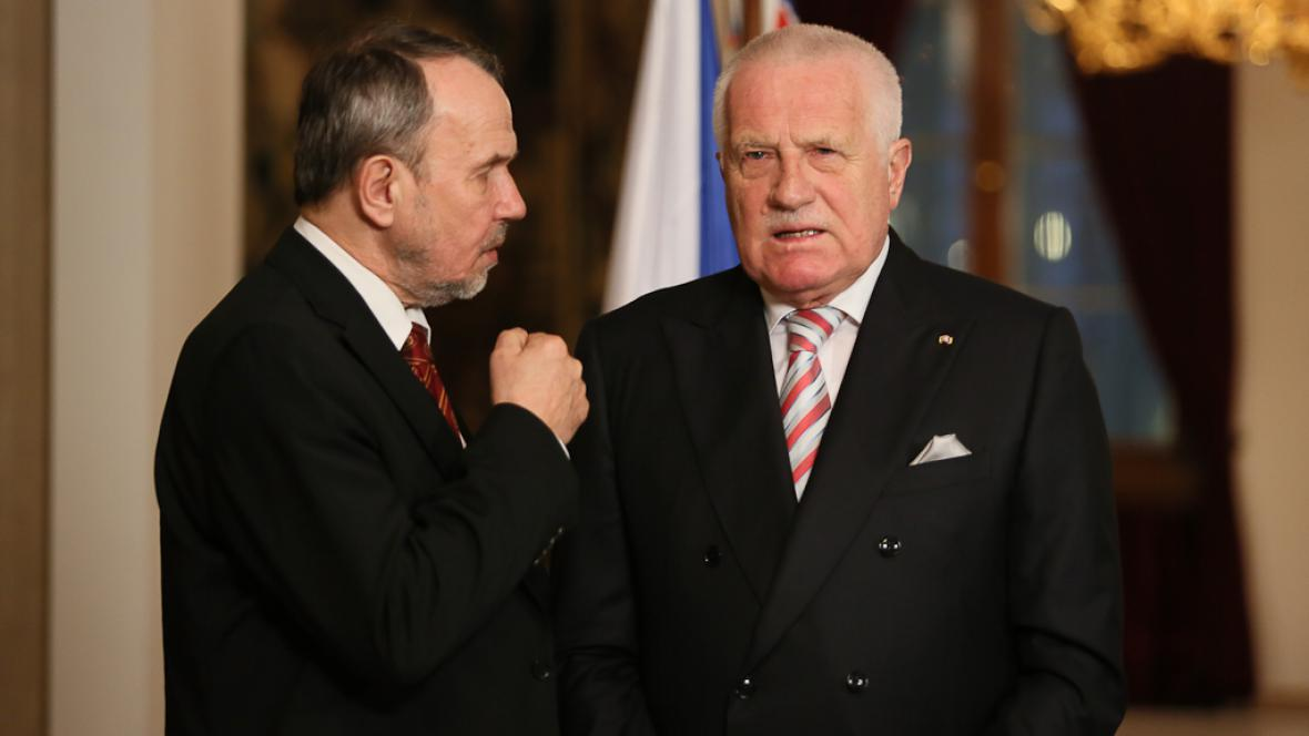 Petr Hájek a Václav Klaus