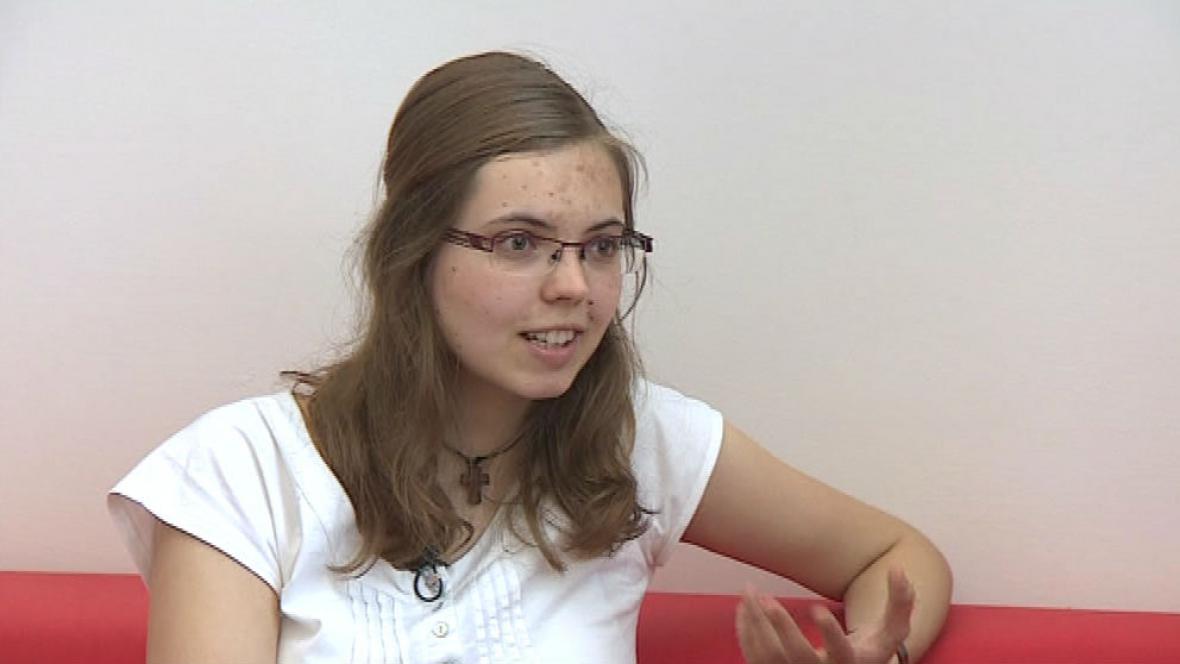 Studentka Dana Večerková