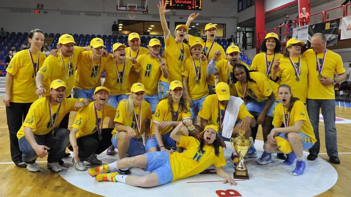 Vítězky ženské basketbalové ligy ZVVZ USK Praha