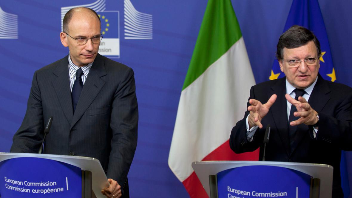 Enrico Letta a José Manuel Barroso