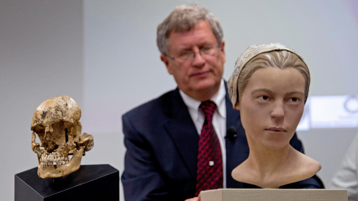Lebka Jane z Jamestownu a její rekonstruovaná podoba