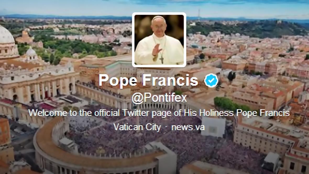 Papež František na Twitteru
