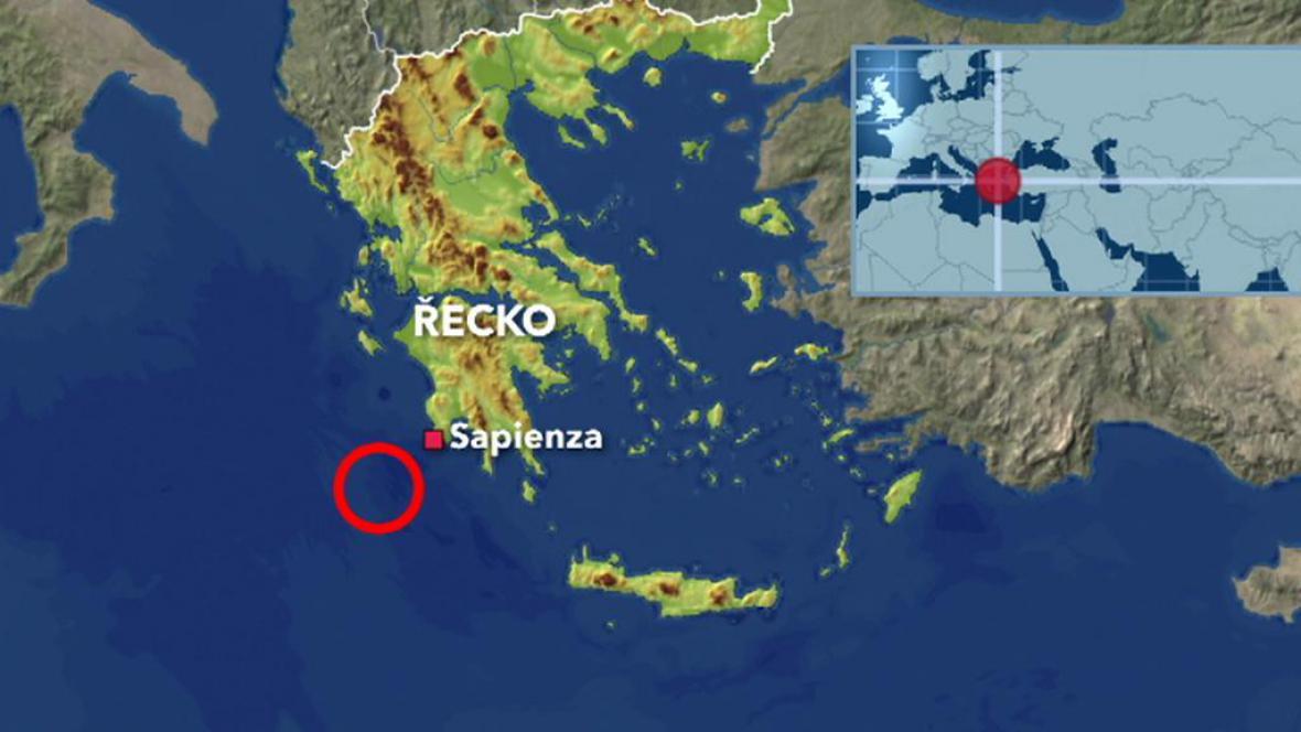 Srážka lodí u Řecka