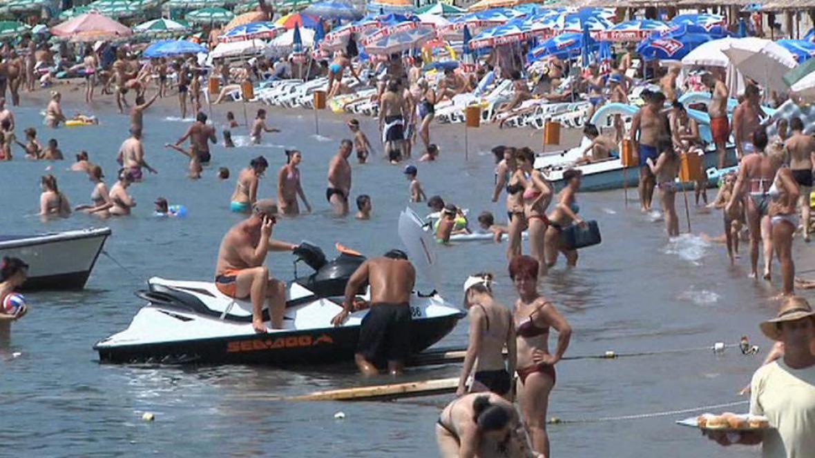 Pláž na severu Itálie