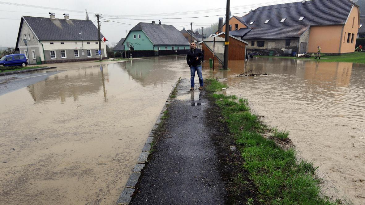 Lokální záplavy v Bohutíně