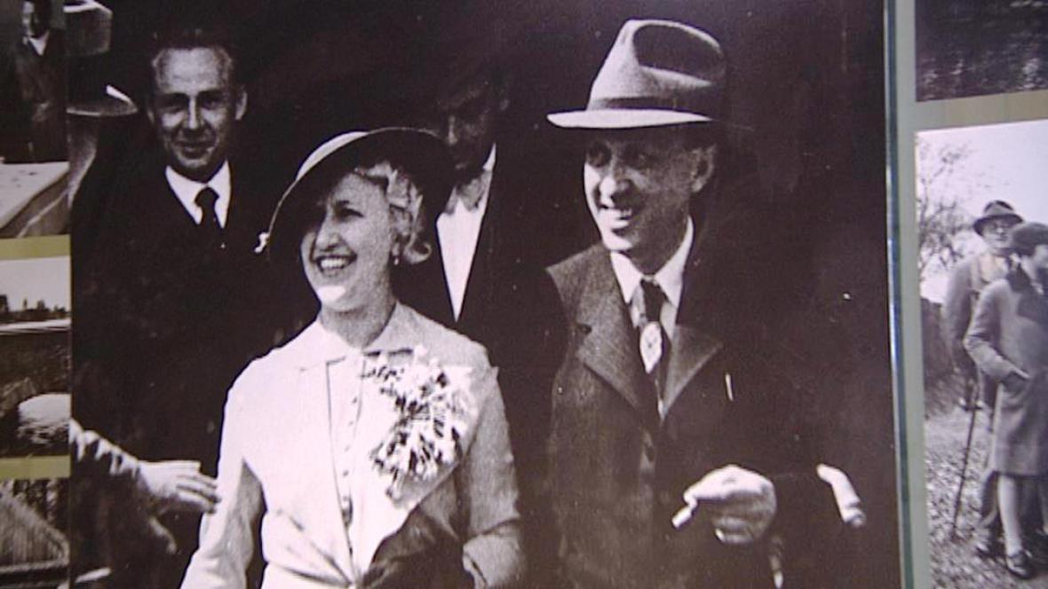 Karel Čapek s manželkou Olgou