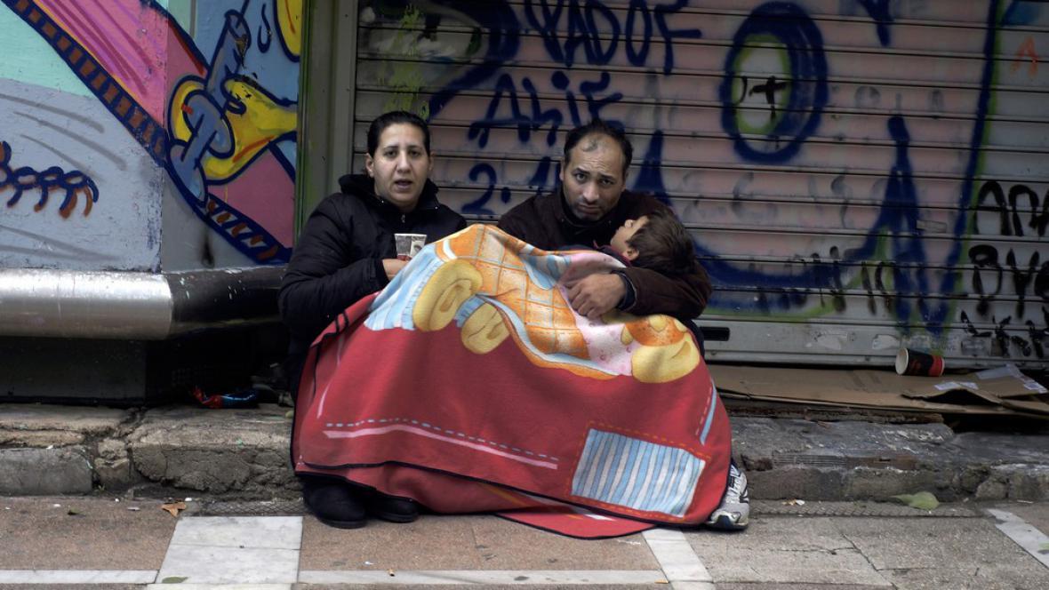 Řecká rodina bez domova