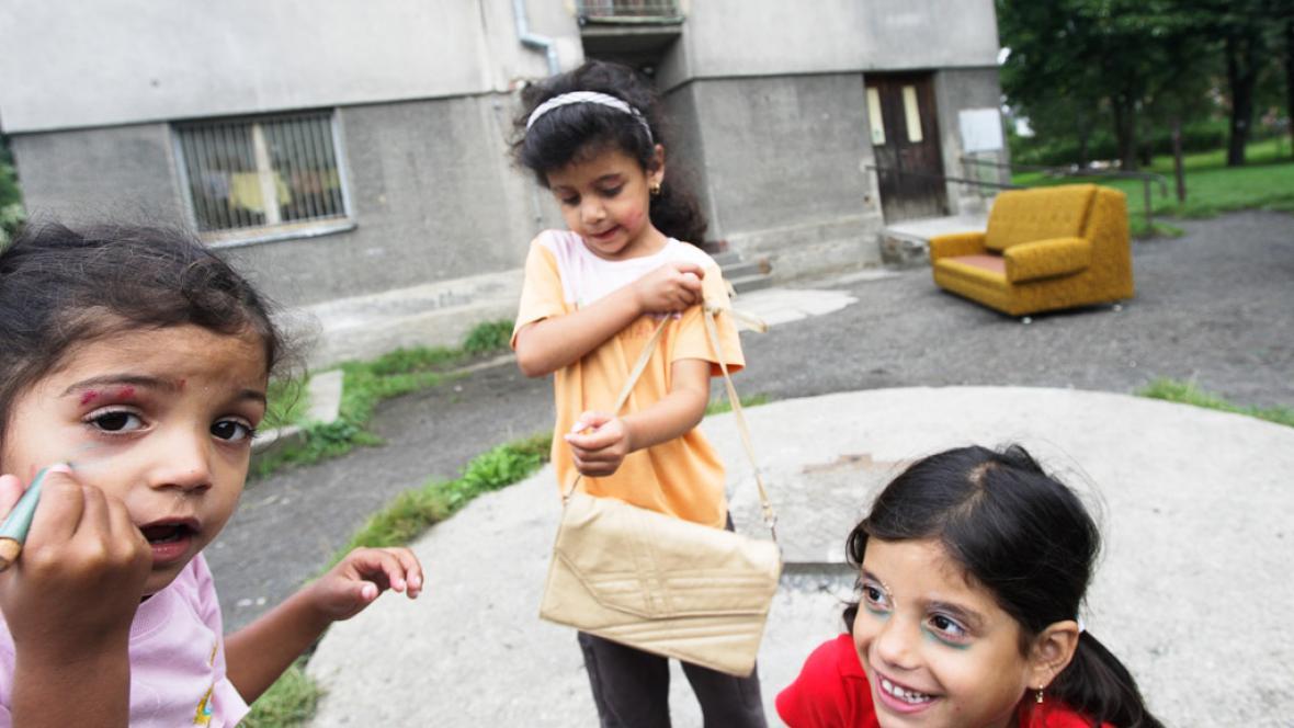 Romské děti z Varnsdorfu