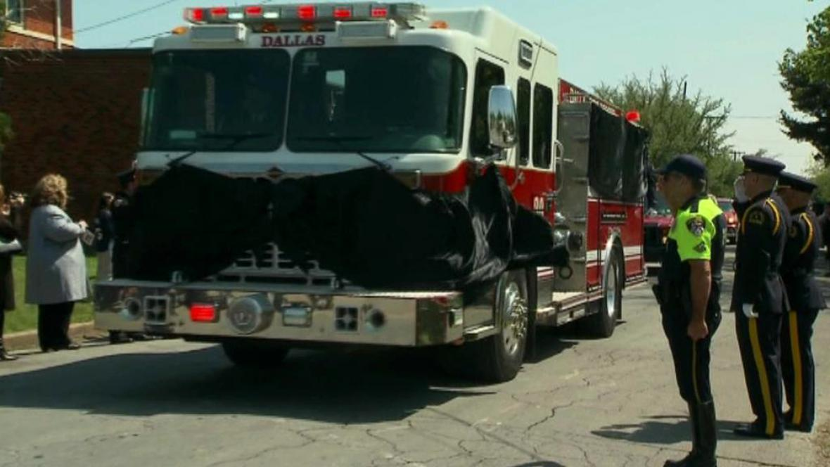 Pohřeb hasiče z Westu