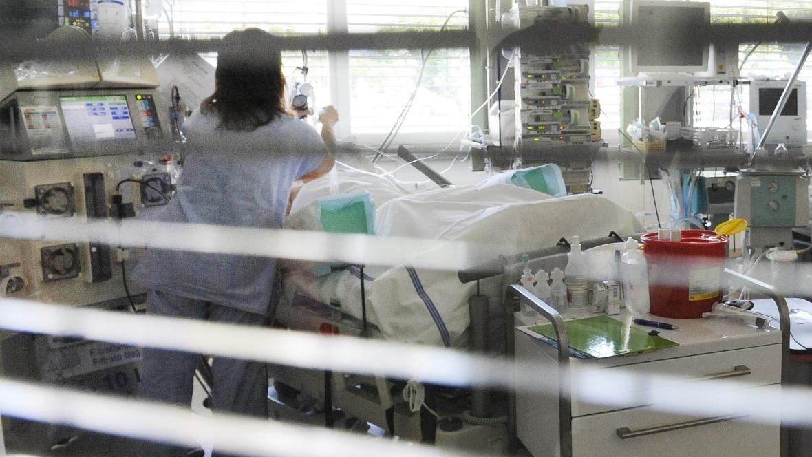 Pacient po otravě metanolem