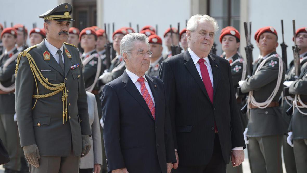 Miloš Zeman na návštěvě Rakouska