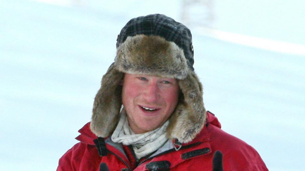 Princ Harry míří na jižní pól