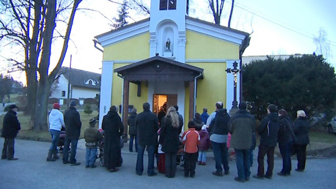 Novoroční bohoslužba v samostatné Krhové