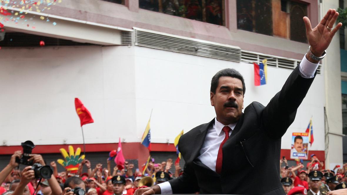 Nicólas Maduro během inaugurace