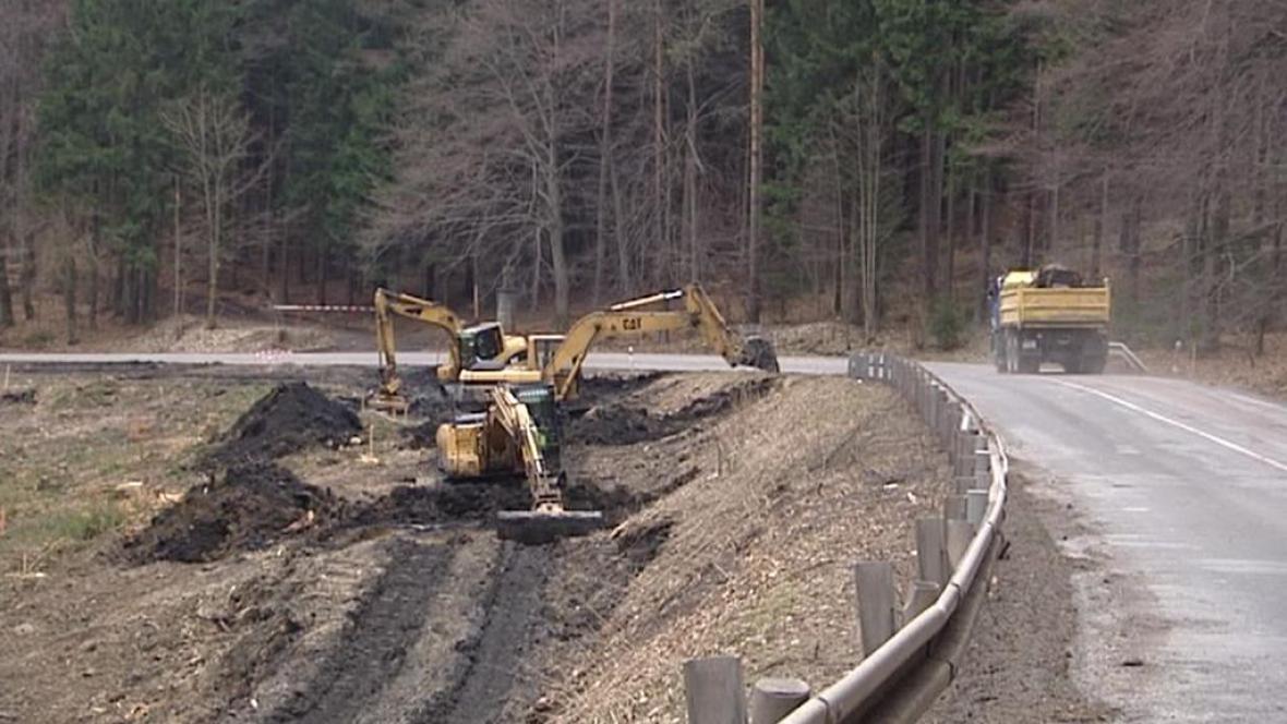 Rekonstrukce silnice na Broumovsku