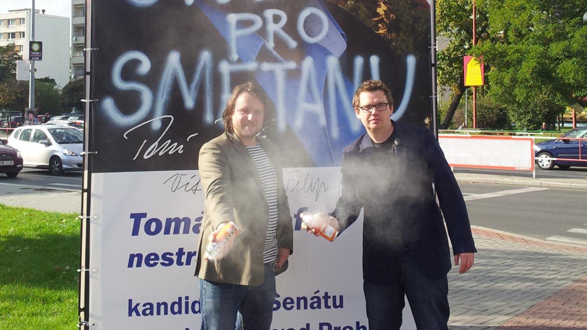 Filip Remunda a Vít Klusák při natáčení dokumentu Svobodu pro Smetanu