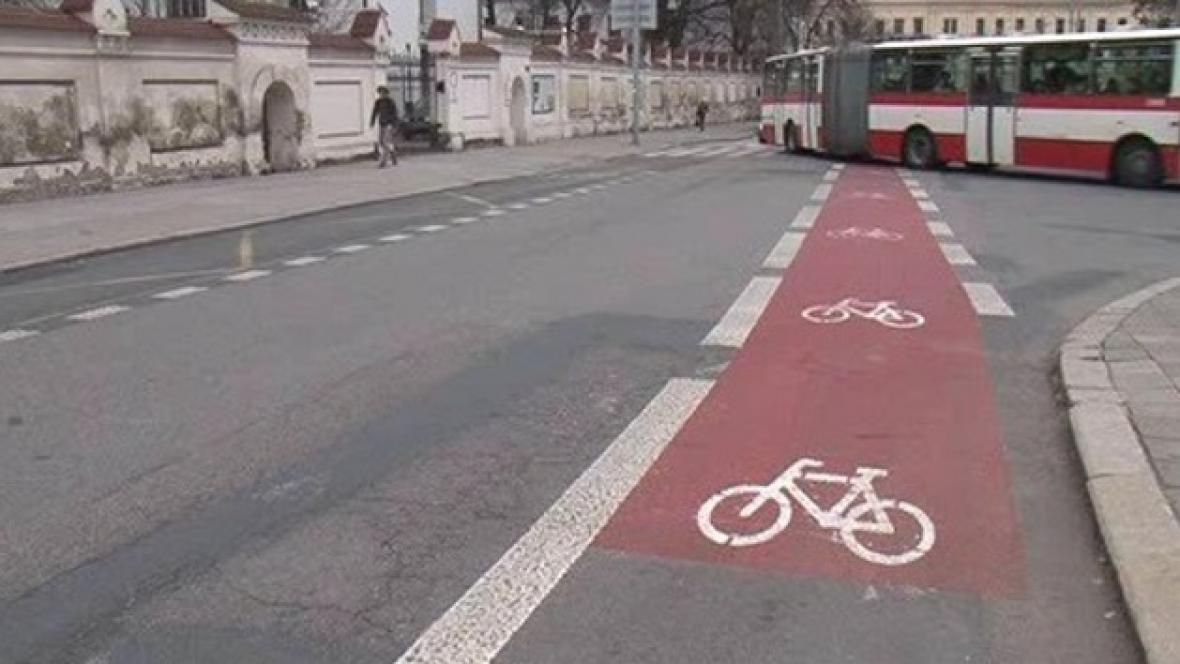 Cyklopruh na Mendlově náměstí v Brně