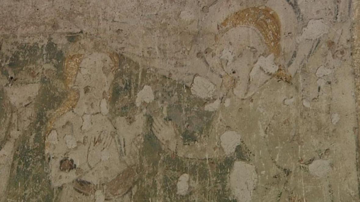 Gotická freska v Broumově