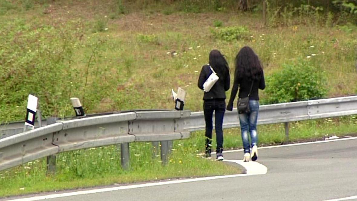 Prostituky na silnici za Plzní