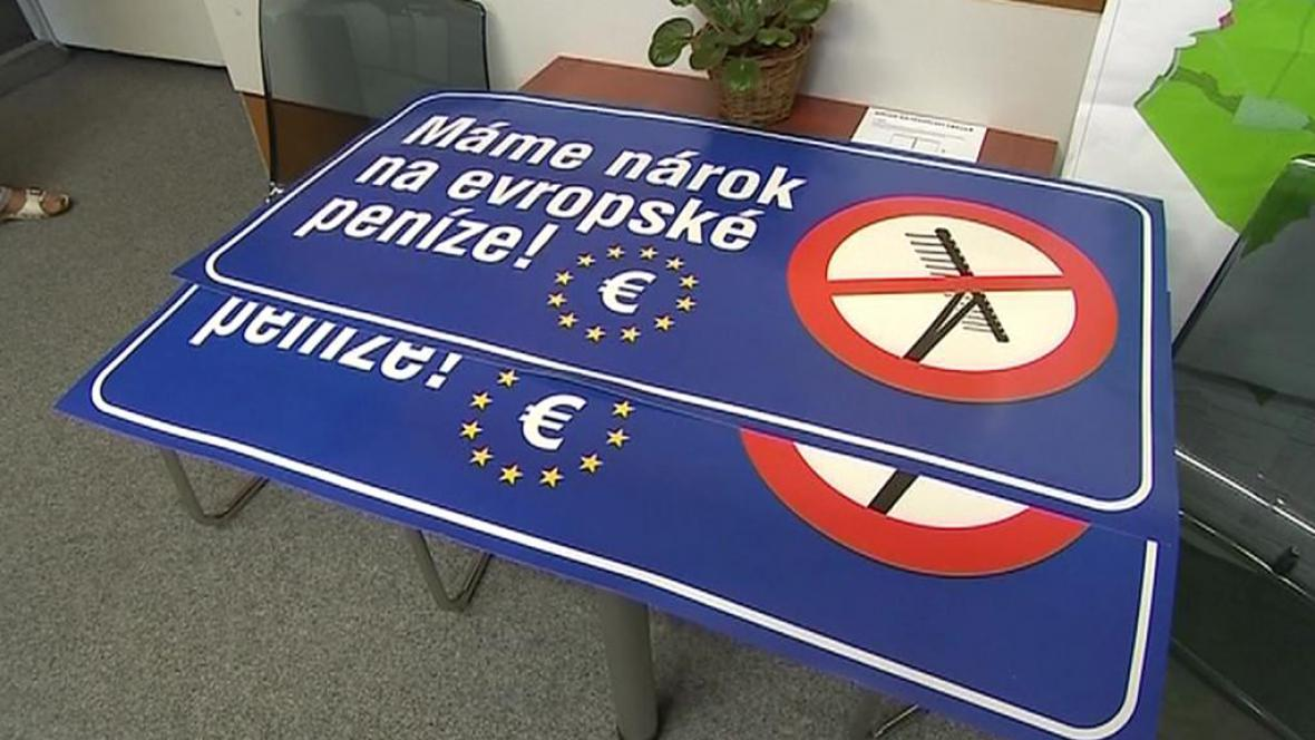 Protest proti dělení evropských dotací