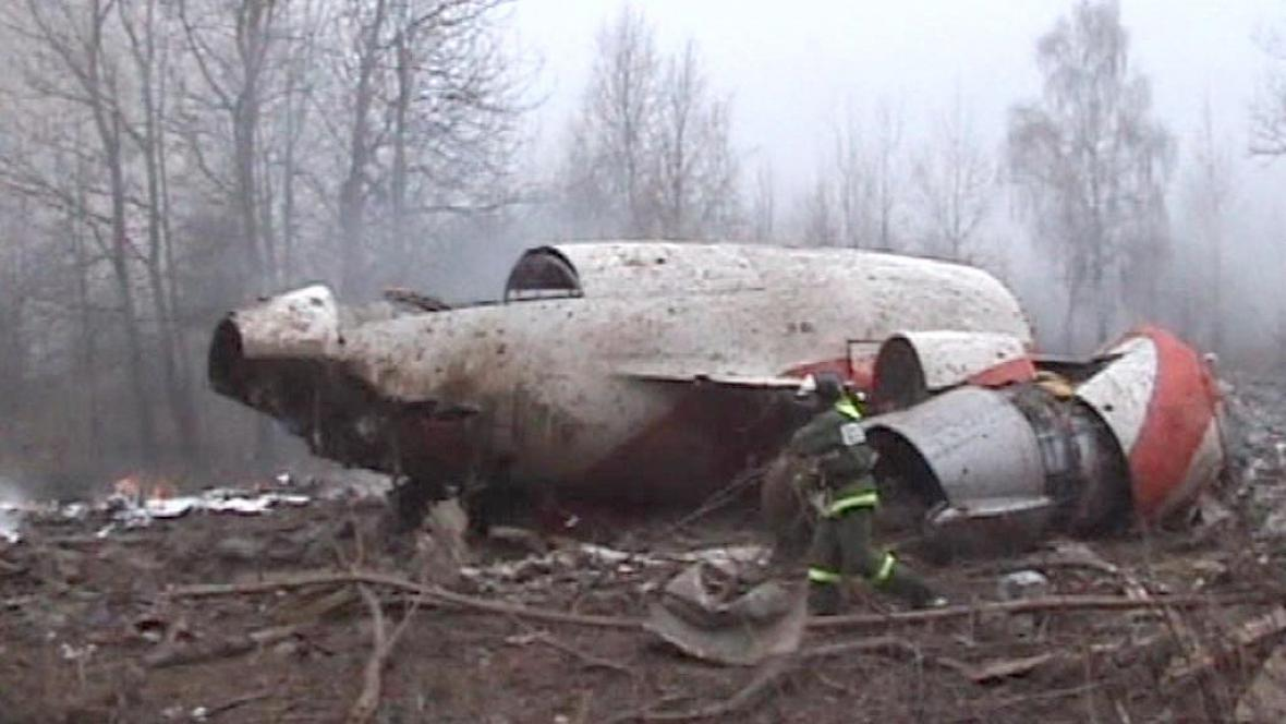 Trosky polského letounu u Smolensku