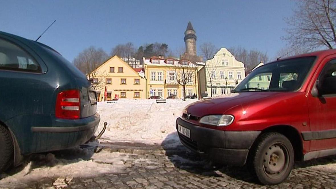 Parkování ve Štramberku