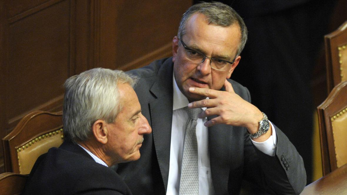 Leoš Heger a Miroslav Kalousek