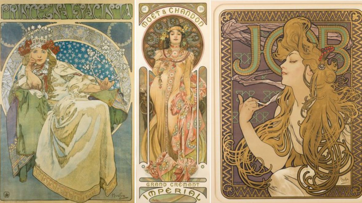 Plakáty Alfonse Muchy ze sbírky Ivana Lendla