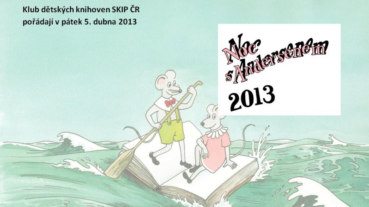 Plakát k letošnímu ročníku Noci s Andersenem