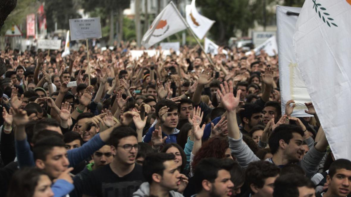 Demonstrace na Kypru
