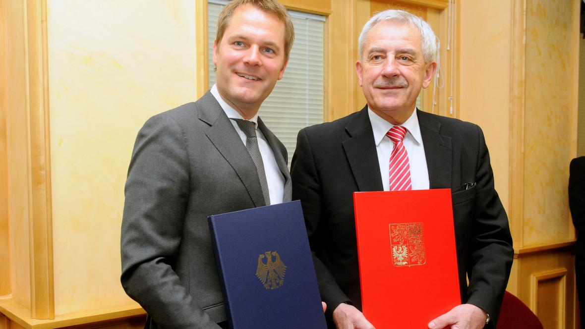 Leoš Heger (vpravo) a Daniel Bahr