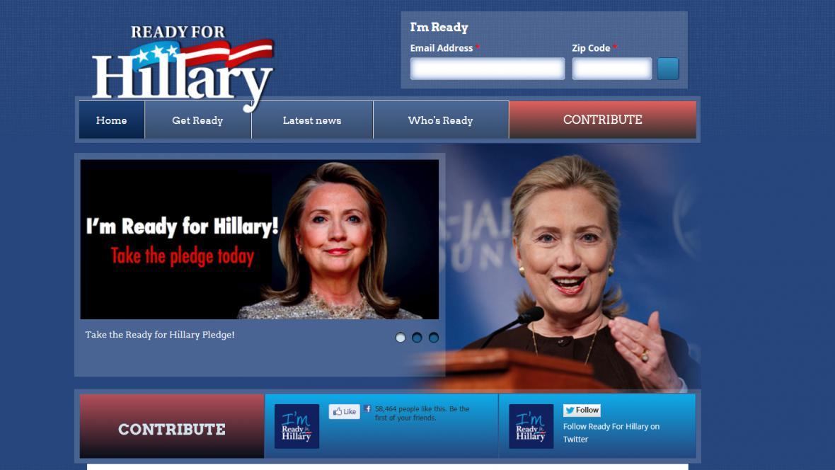 Stránky na podporu Hillary Clintonové