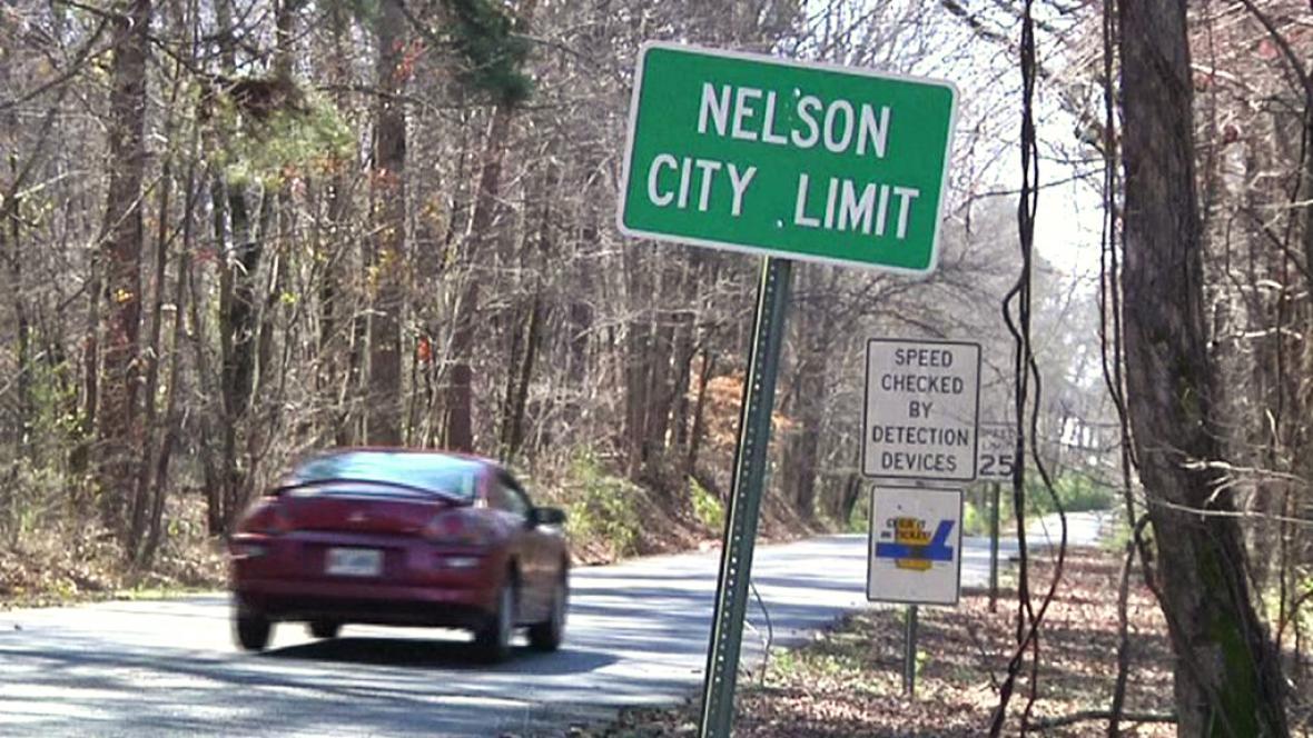 Městečko Nelson v Georgii