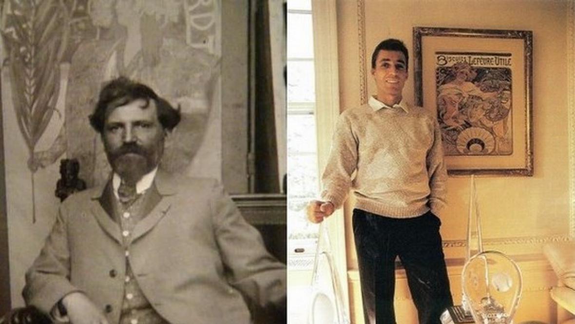 Zleva: Alfons Mucha a Ivan Lendl