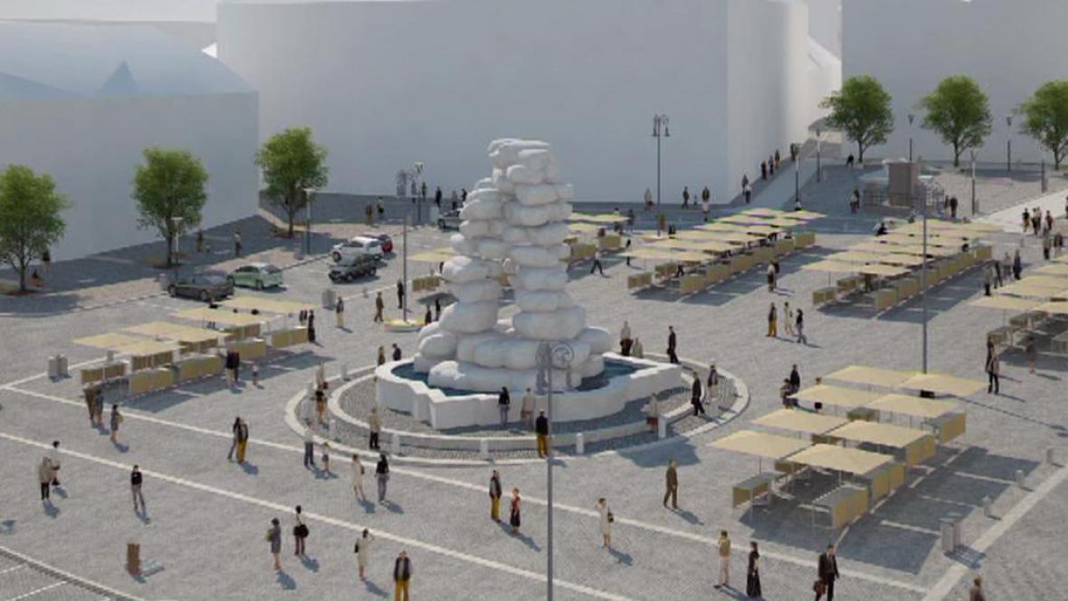 Vizualizace náměstí po rekonstrukci