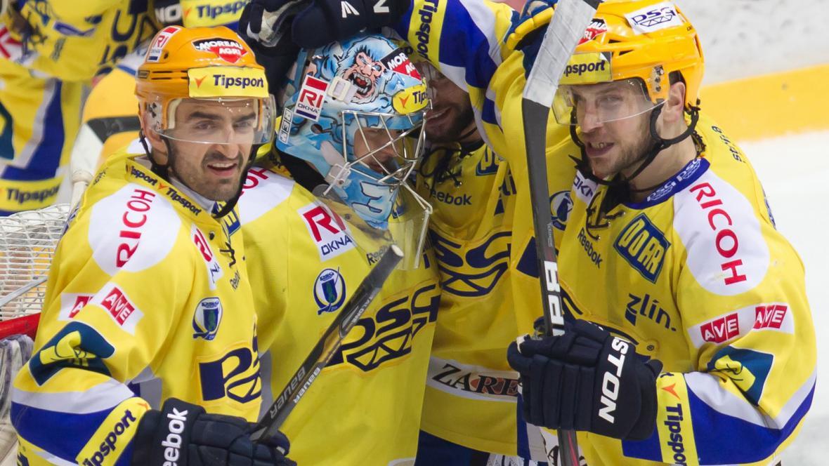 Slavící hokejisté Zlína