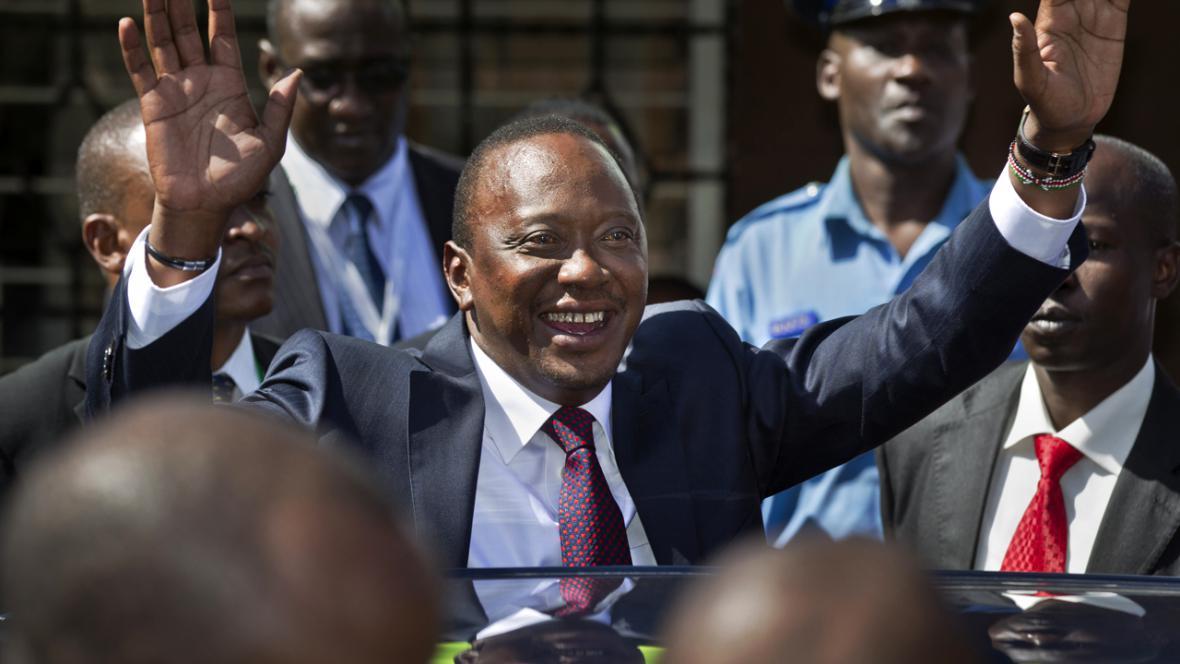 Uhuru Kenyatta, vítěz prezidentských voleb v Keni