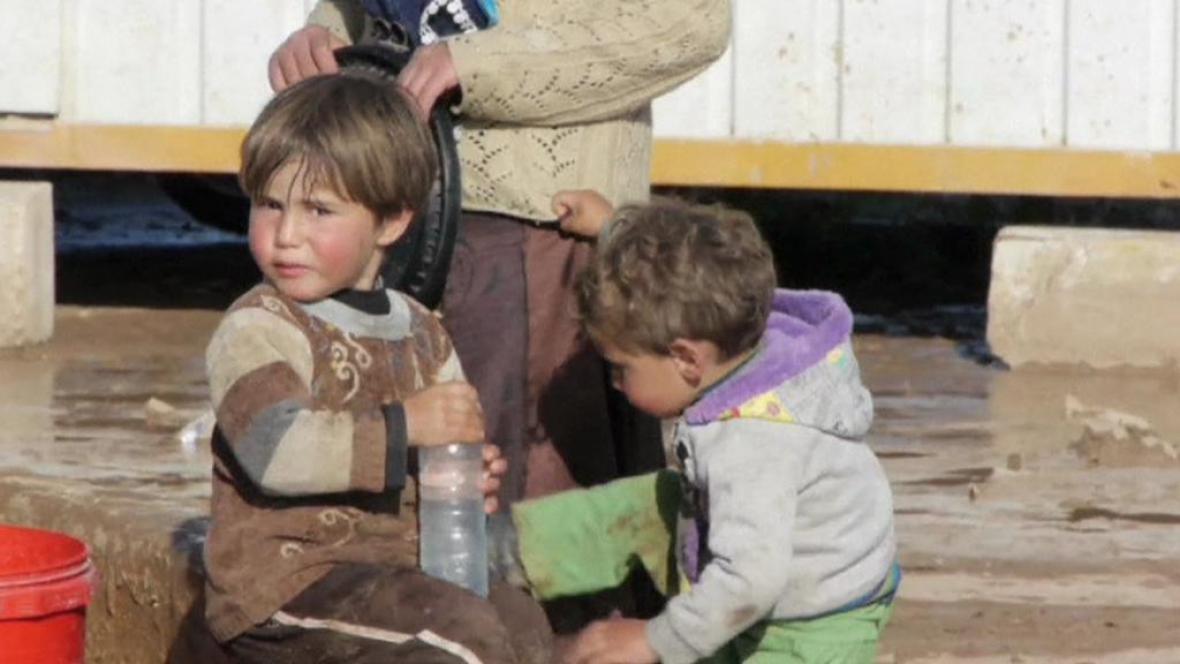 Syrské děti v uprchlických táborech