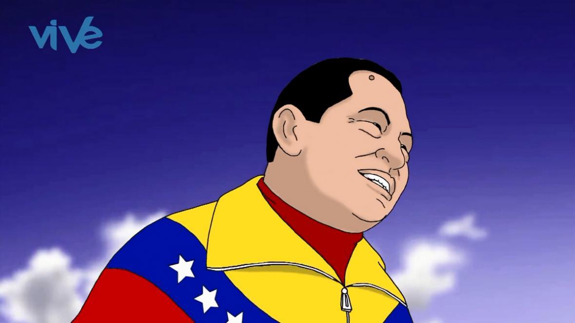 Klip o nanebevzetí Huga Cháveze