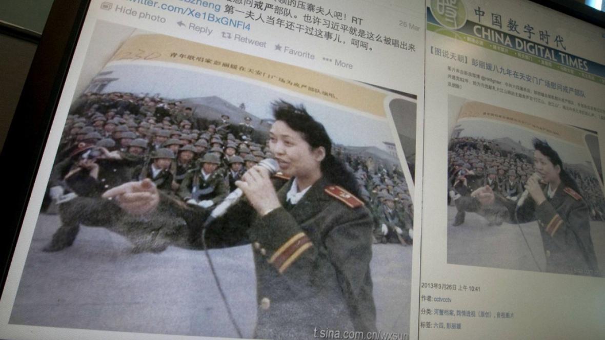 Independent zveřejnil inkrimunující fotku čínské první dámy