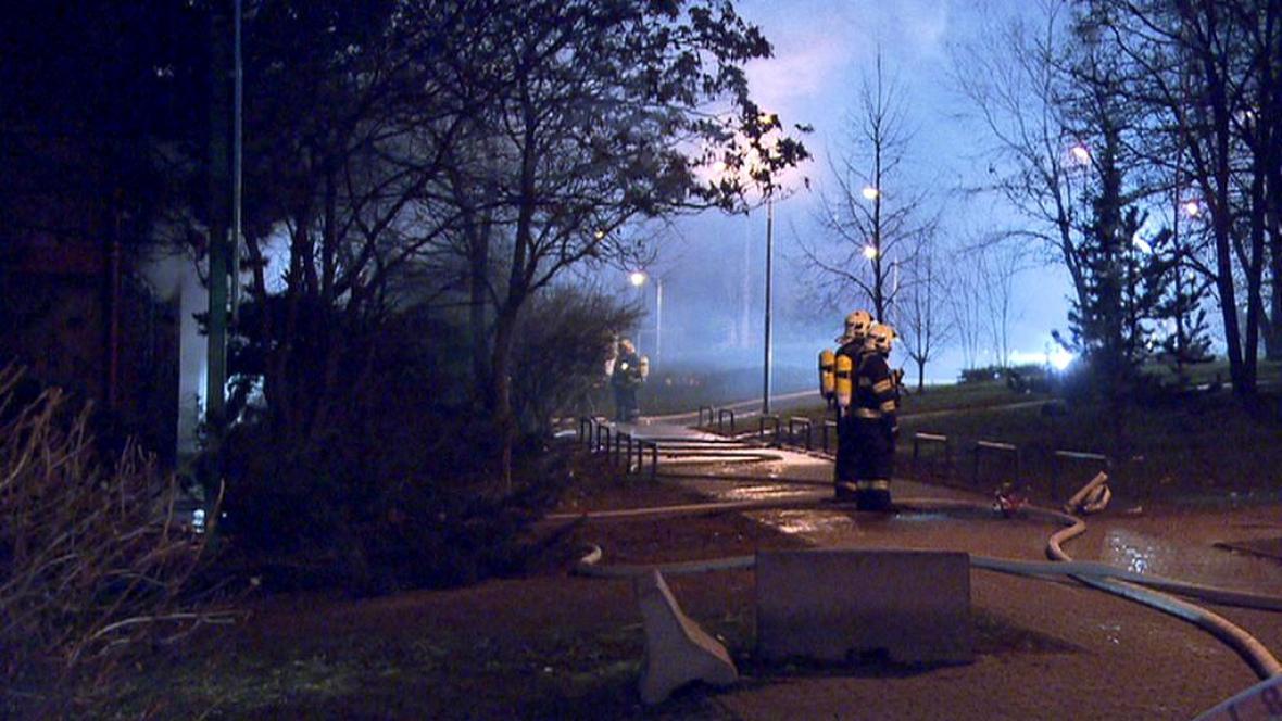 Požár ubytovny na pražském Bohdalci