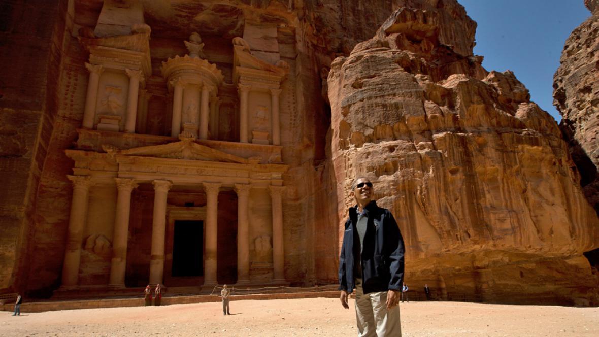 Barack Obama navštívil Petru