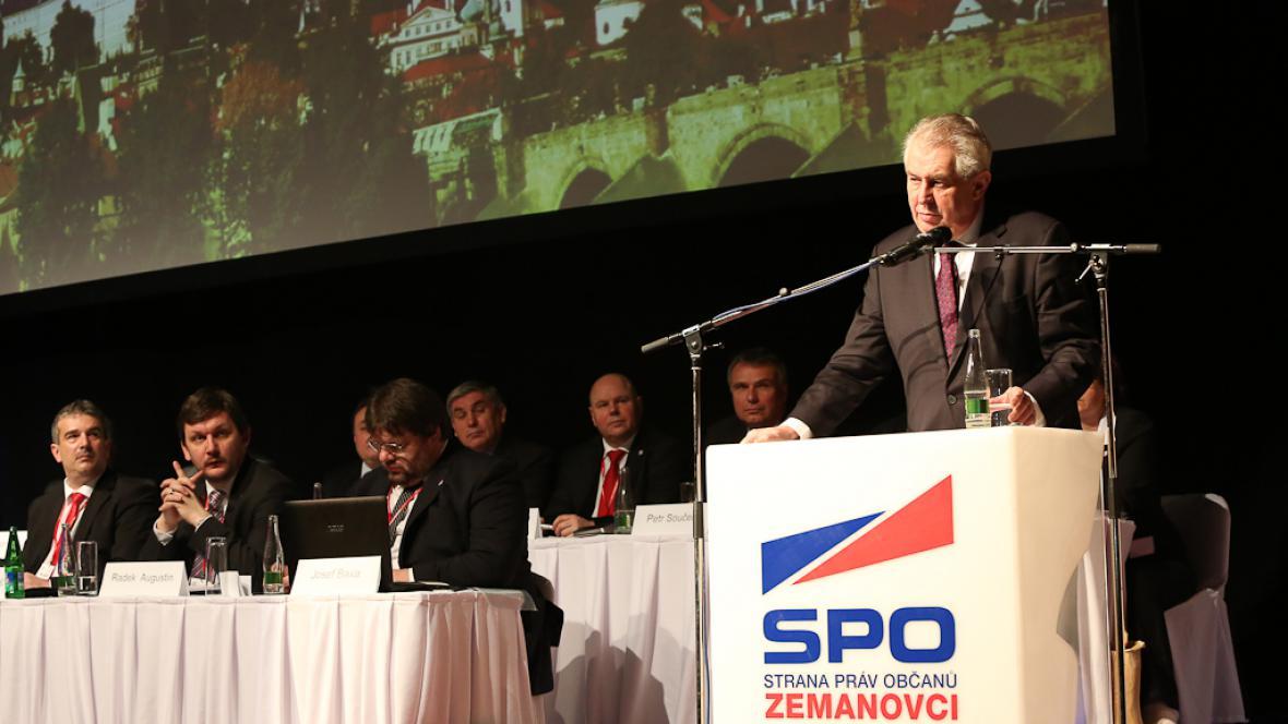 Miloš Zeman na sjezdu SPOZ