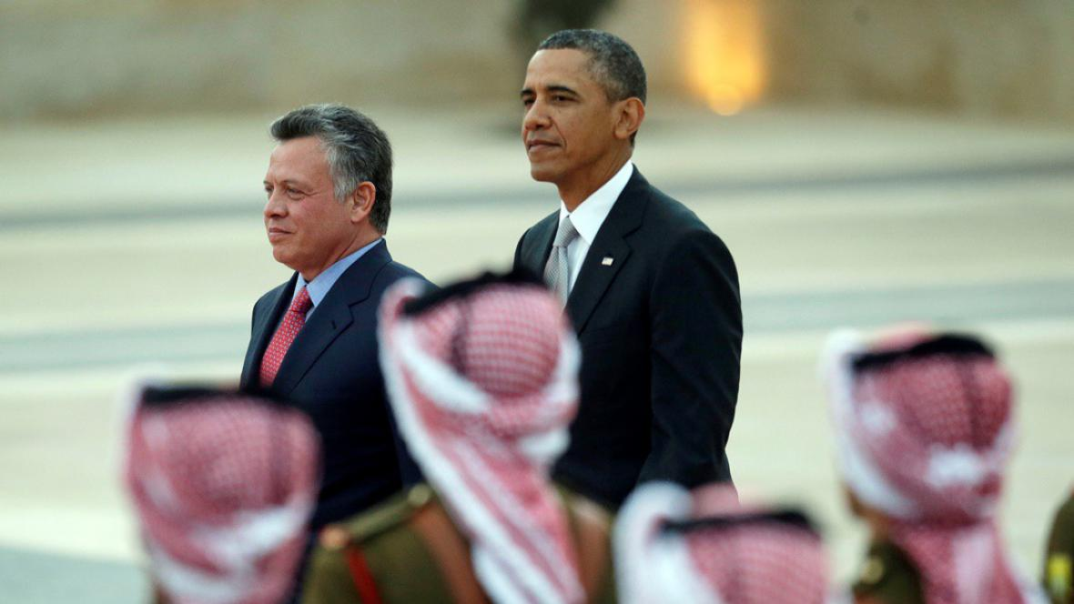 Abdalláh II. a Barack Obama